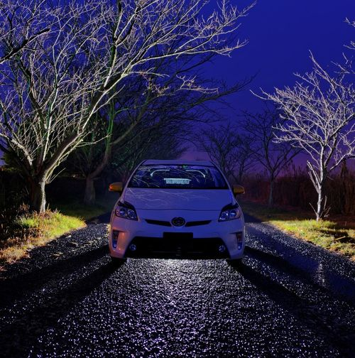 Early Morning Japanese Car Japan Toyota Prius Hybrid Zvw30 Car Road Transportation Tree No People Day Outdoors