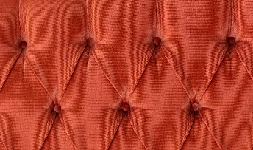 Full frame shot of orange curtain