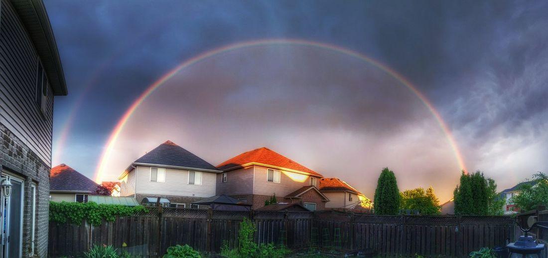 Rainbow Suburban Landscape Suburbia