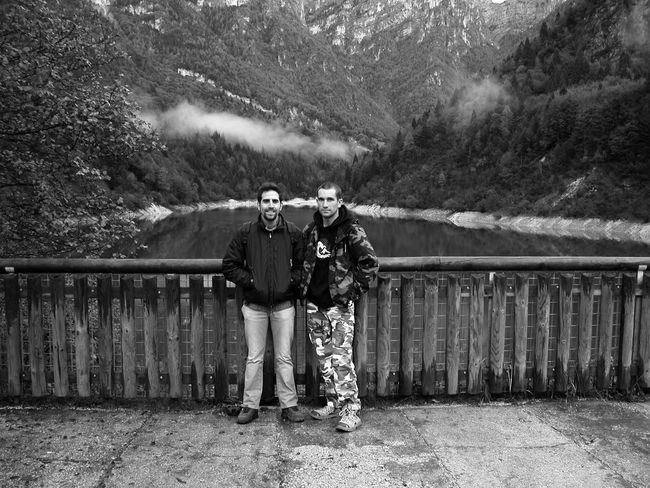 Black And White Bridge - Man Made Structure Day Friend Friends Lost Me Mountain Nature Outdoors Time Ago Tranquil Scene Vacations