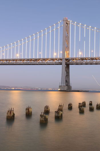 Bridge Bridge View Over Bay Clear, Night Sky, Reflection, Evening Lights & Shadows Lights At Dusk Night Lights Nightphotography Water 43 Golden Moments