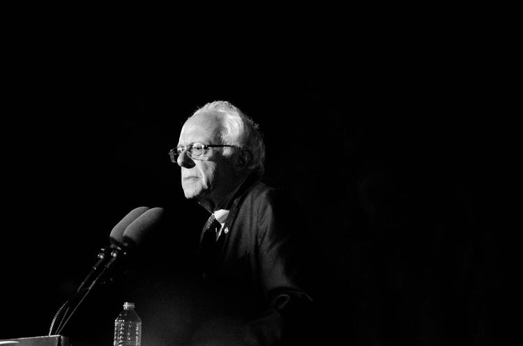 Savior. Black Background One Man Only One Person Politics Black And White Political Rally Politician Shadows Bernie Sanders Bernie2016 Feelthebern Lightmanipulation