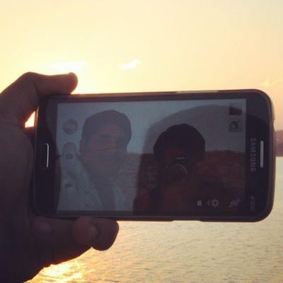 Selfie Samsung GalaxyGrand2 Canoneos450D Dhurwadam Sunset Anish Irfan