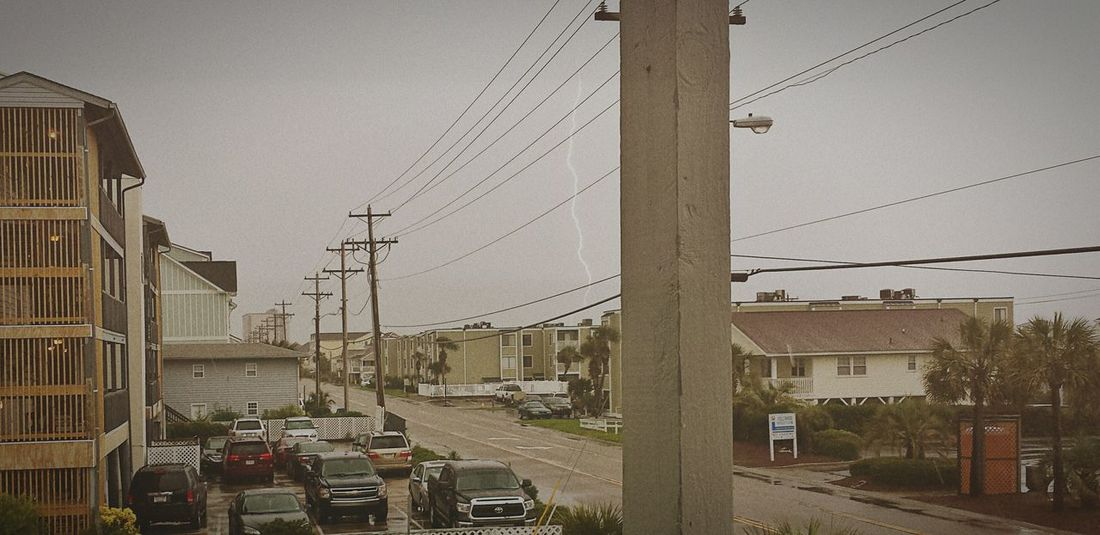 My first ever Lightningbolt Photo! Myrtle Beach SC vacation. Stormy Weather I Love Thunder Storms Landscape_Collection