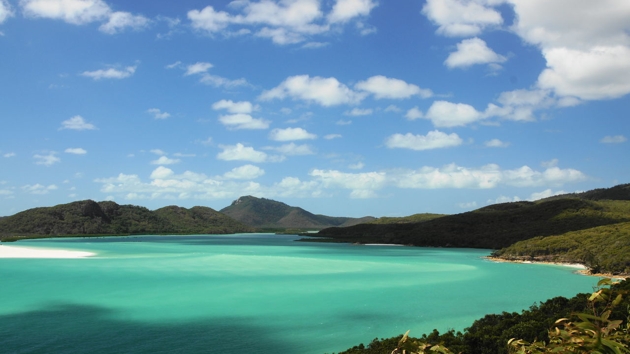 Whitsunday Islands Cloud - Sky Turquoise Colored Beach Beauty In Nature Dream Bestbeach Scenics - Nature Whiteheaven
