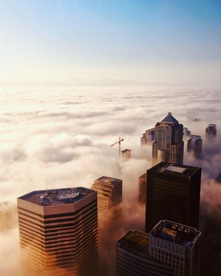 Up above the world, so high. Above View Above The City Above The Clouds Building Exterior Built Structure Architecture Sky Office Building Exterior Building Skyscraper City Cityscape No People Modern Travel Destinations Tower Cloud - Sky Tall - High Outdoors Office Day