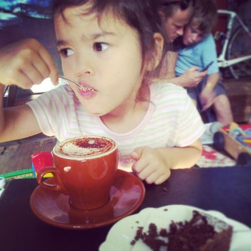Return of daddy - daughter cino time