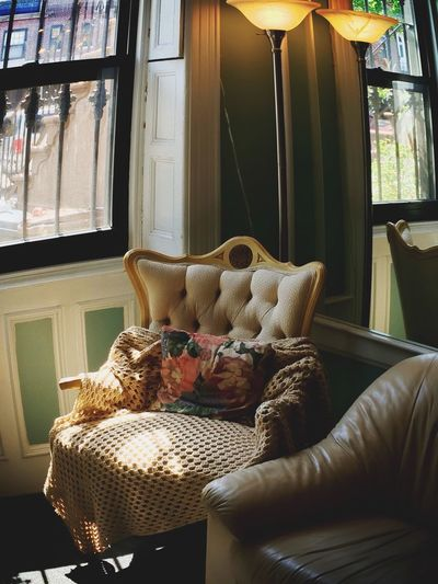 This chair always looks so enticing (not to mention I made that throw for it 😁) Chair Lamp Distortion Pillow Blanket Crochet Window Mirror Corner Brooklyn Park Slope Dental Office Beige Floral EyeEm Best Shots - My Best Shot