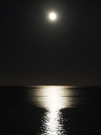 Silver Streaks On The Horizon Fantastic Atmosphere Night Atmosphere Bright Moon Romantic Water Black And White Water Reflections Fantastic Water Reflection No People Decorative Art Wunderful Sparkling Water EyeEmNewHere EyeEmNewHere