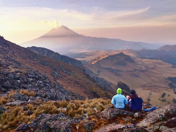 Mountain Hiking Landscape Travel Nature Travel Destinations Cloud - Sky Sky Tourism Tourist Fog People Beauty In Nature Snow Beauty Outdoors Adventure Social Issues Togetherness Mountain Peak Mexico Exploring Iztaccihuatl Horizon View