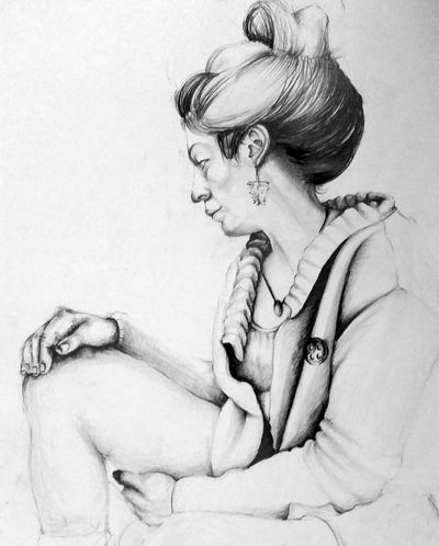 Live Model - 50x70 Adult People Young Women Artistic Sketchbook Art Drawing ✏ Artist Draw Girl Pencil Model