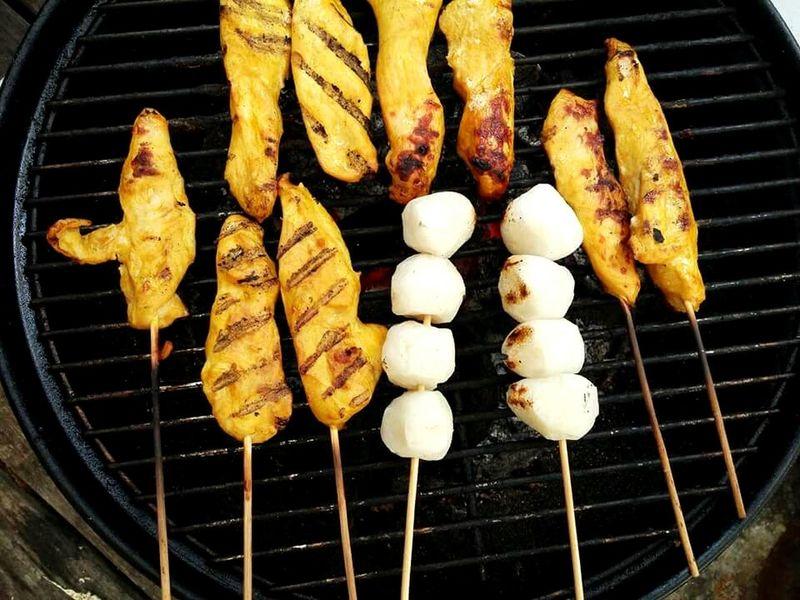Sataychicken Fishballs Skewers Food BBQ SuparGusCollection