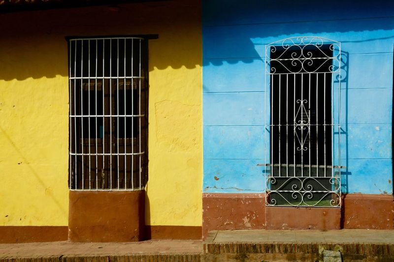 Facade of house with windows