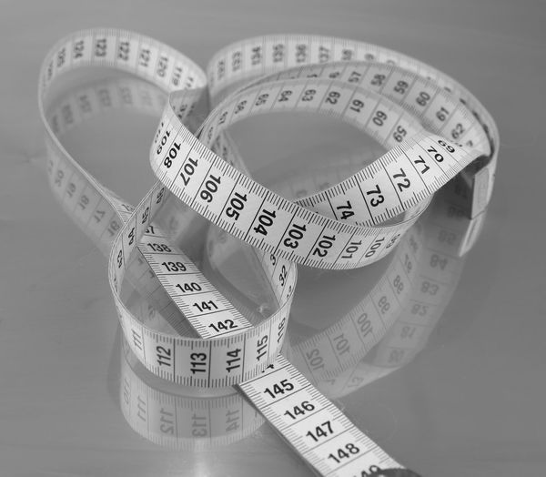 BMI Body Mass Maßband Accuracy Close-up Day Indoors  Instrument Of Measurement Measuring No People Number Ruler Tape Measure