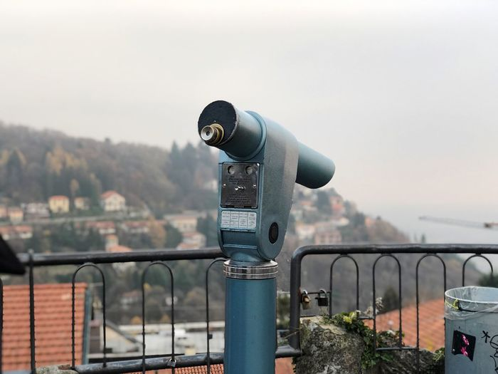 Day Art Beauty Sky Cloudy View Mountain Telescope EyeEm Selects Sky Binoculars Coin-operated Binoculars Architecture Coin Operated Nature Built Structure Building Exterior Outdoors Railing Focus On Foreground No People Optical Instrument Observation Point Telescope Connection Day City Metal Security
