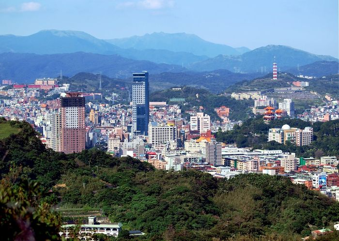 View of Jilong city, Taiwan, from the north-east. The terrain offers very little room for urban expansion. Jilong City Taiwan Aerial View Architecture Beauty In Nature Building Exterior Built Structure City Cityscape Day Keelung Mountain Mountain Range Nature No People Outdoors Residential Building Scenics Skyscraper