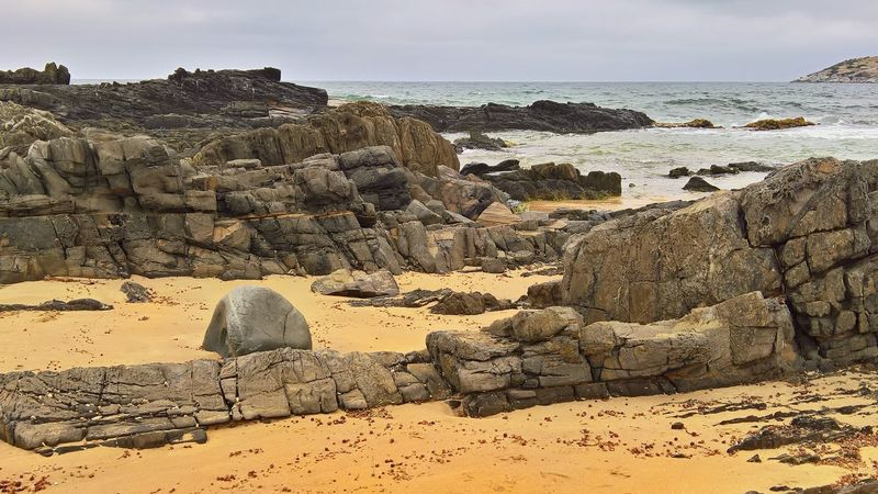 Sand Sky Landscape Rock Formation Shore Rock - Object Rocky Coastline