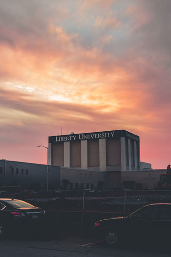 University. Sunset Clouds Cloud - Sky Moody Moody Sky Sunset City Dramatic Sky Sky Architecture Built Structure Urban Skyline Tower EyeEmNewHere