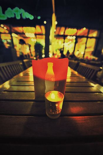 Candle Light Table Indoors  Focus On Foreground No People Food And Drink Illuminated Close-up Night