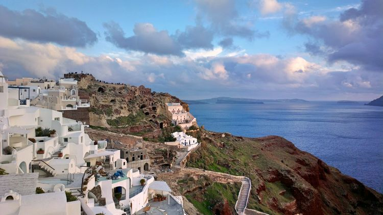 || Nature Theories || Santorini, Greece. TheFoneFanatic Nokia  Nokia808 Vacations Mobilephotography PhonePhotography Nature Luxury Sea Town Panoramic Whitewashed TOWNSCAPE Old Town Rocky Coastline