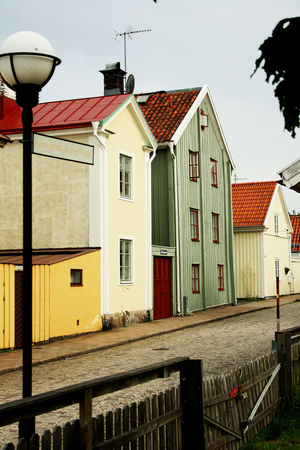 Architecture Building Exterior Built Structure City Day House Houses No People Old Buildings Outdoors Residential Building Row House Sky Street The Way Forward Tree Walking Around Wooden House