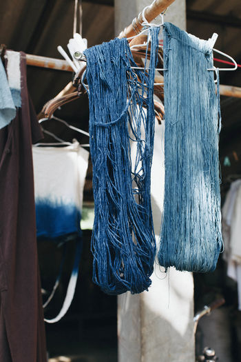 Boutique Business Finance And Industry Choice Close-up Clothing Clothing Store Coathanger Consumerism Day Fashion Handicraft Hanging Indigo Indigo Dyeing Indoors  Menswear No People Retail  Store