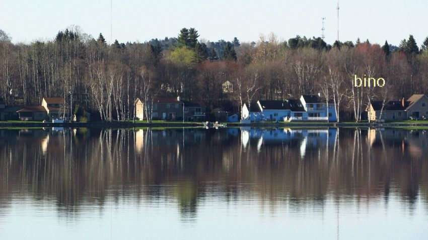Out Shooting ACROSS THE LAKE Late Morning Shoreline Still Morning Reflection_collection Lake Cadillac Pure Michigan