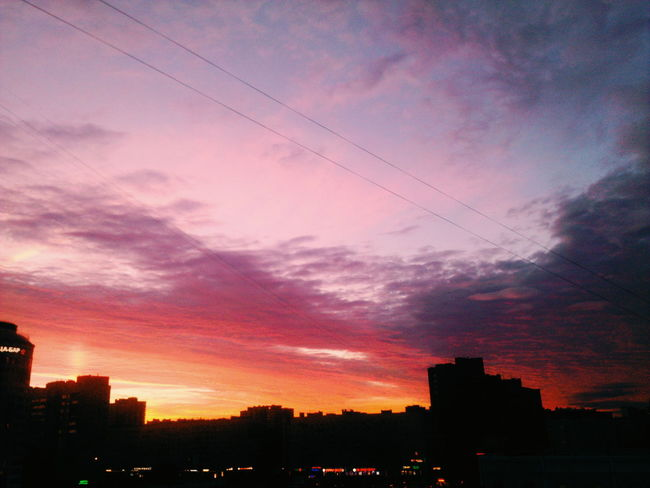 ..in memory of summer 2016 City Sky Cityscape Beauty In Nature Nature Night White Night Saint Petersburg Evening Evening Sky Red Sunset Urban Skyline Ownphotography Own Artwork VSCO Cam