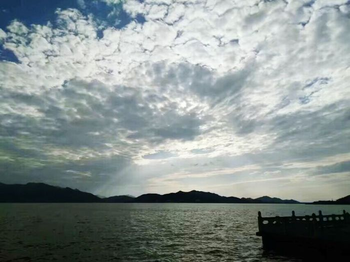 Cloud - Sky Dramatic Sky Scenics Sea Mountain Nature Outdoors Sky Water No People Sunset Beauty In Nature Landscape Day