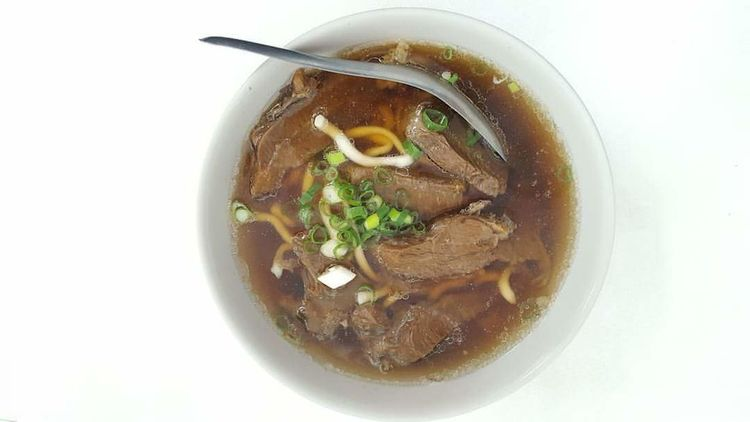 Piping hot bowl of beef noodles. Beef Noodles Soup Taiwan Taipei Hot Soup Food Food And Drink Chinese Food Taiwanese Food Taiwanese Bowl