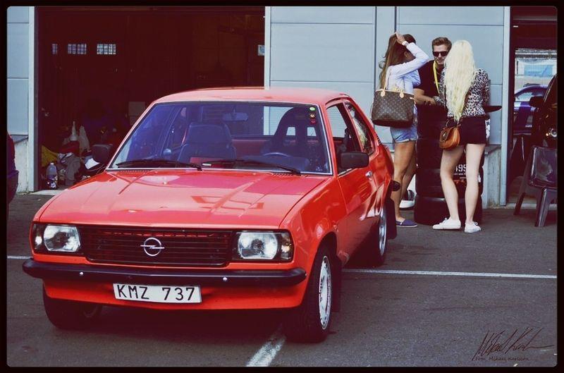 My cousins Opel Ascona at Anderstorp Raceway Nikon D7000