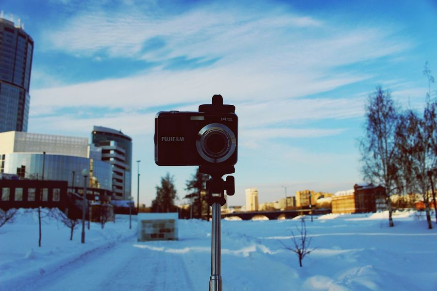 Winter Snow Cold Temperature City First Eyeem Photo Camera - Photographic Equipment Old-fashioned Everyday Life Taking Photos Clear Sky Popular Photos Winter City Men My Photography Russia Екатеринбург Photography Themes City Life Photographer Architecture Sky Outdoors Popularphoto Cityscape