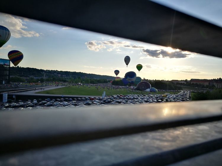 I see baloons #outdoor #hotairballoonfestival #NoFilter #otherview #daylight #day Competition Sky