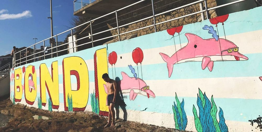 Bondi Beach, last days of summer Graffiti Outdoors Street Art Beach Sunny Day Bondi Beach Australia