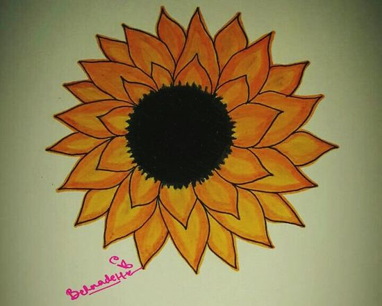 Hello, Sun! Eyemnaturelover ArtWork Art Flower Drawingwork Pencil Drawing Illustration Artsy Art, Drawing, Creativity Drawing