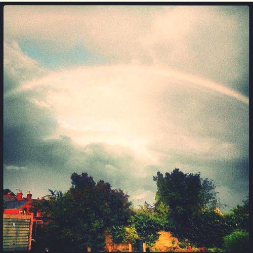 Beautiful rainbow on a calm and beautiful day Rainbow RainyDay