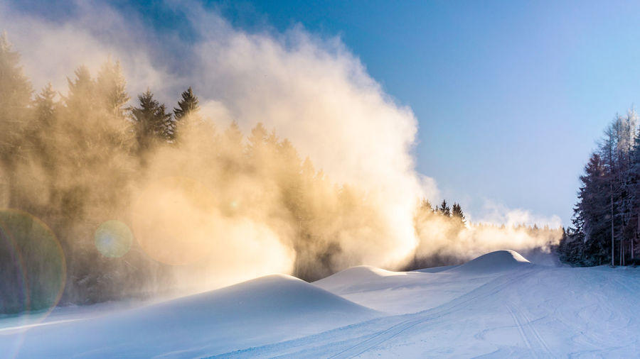 moguls made of snow cannons Austria Skiing Beauty In Nature Cloud - Sky Cold Temperature Environment Landscape Mogul Moguls Mountain Nature No People Non-urban Scene Power In Nature Scenics - Nature Ski Sky Snow Snow Cannon Snowcapped Mountain Tranquil Scene Tranquility Tree White Color Winter