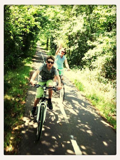 Cycling Having Fun Enjoying The Sun Holiday