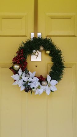 No People Wreath Tradition Christmas Christmas Decoration Creativity Day Yellow Decorations Decorate Texas