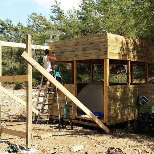 Ev Home Trees Camp Camping Kulübe Building Dağevi