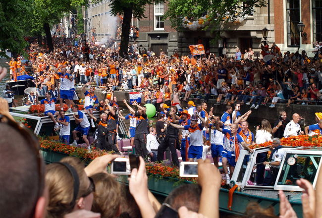 Adult Amsterdam Arjen Robben Audience Boat Can Celebration Ceremony Crowd Day Dutch Dutch Soccer Team Event Large Group Of People Men Orange Outdoors People Real People Robben  Soccer Spectator Women World Champion World Championship Soccer 2010