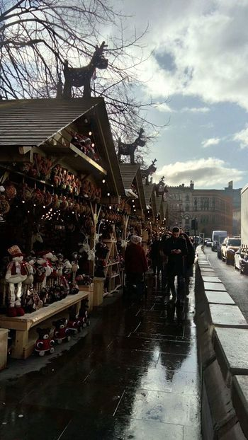 Beautiful Photographer Photography Photooftheday Christmas Market Manchester Christmas Decoration Christmas Lights Water Wet Cloud - Sky Day Outdoors Architecture Sky City