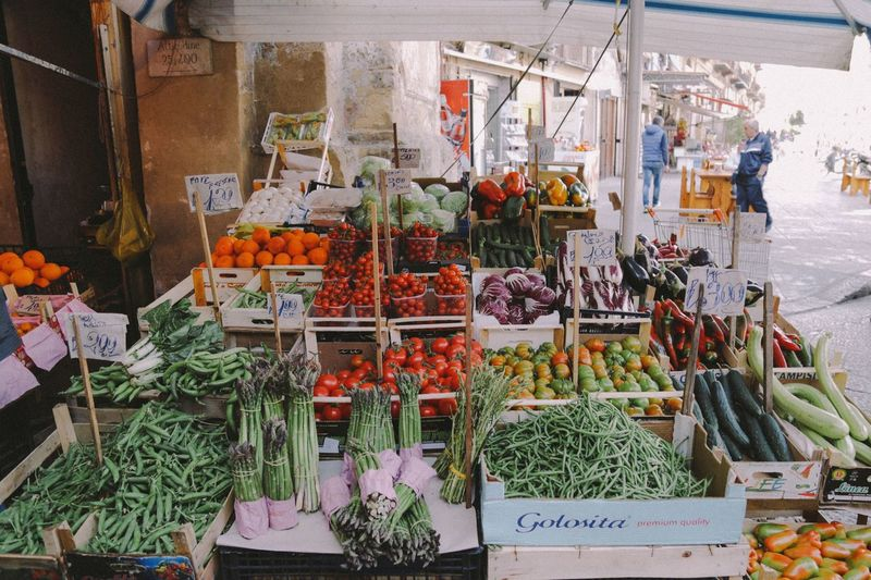 Vegetable Market Variation Retail  Food Healthy Eating Freshness Market Stall Choice Price Tag Small Business Day Large Group Of Objects No People Lifestyles Outdoors Sicily Sicilia Palermo Break The Mold The Street Photographer The Street Photographer - 2017 EyeEm Awards