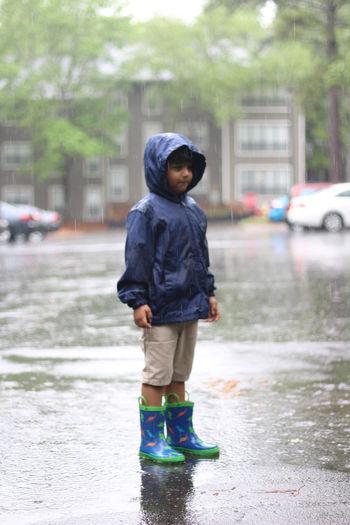 Full length of boy on street