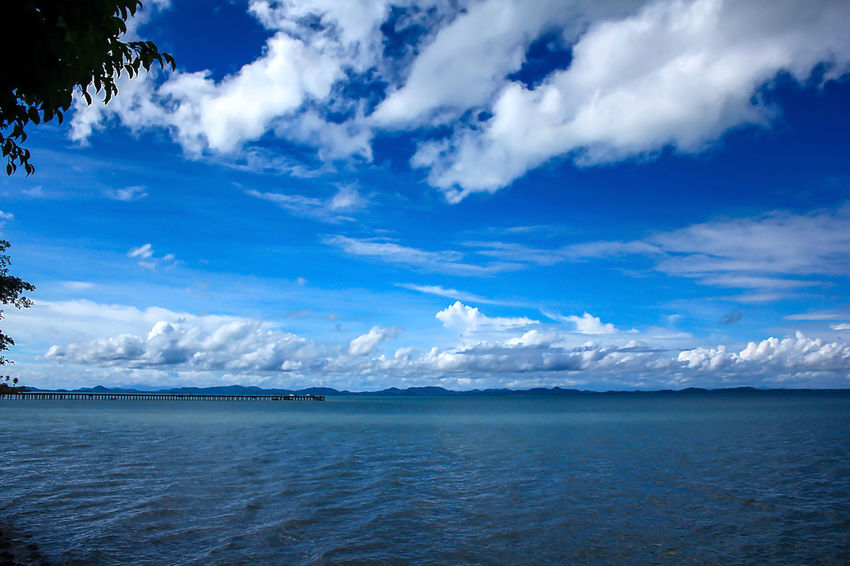 Sea View Clouds in the Sky on a Bright Day Travel Beach Beauty In Nature Blue Cloud - Sky Day Horizon Horizon Over Water Idyllic Landscape Landscape Sea Nature No People Non-urban Scene Outdoors Scenics - Nature Sea Sky Tranquil Scene Tranquility Water Waterfront
