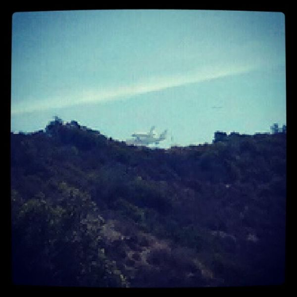 Hollywoodsign La Endeavour Spottheshuttle