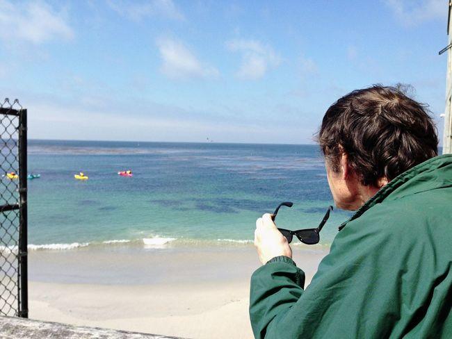 Sunglasses Enjoying The View Monterey Bay Watching Boats