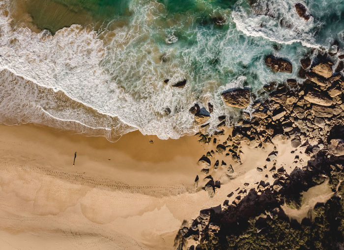 Burning Palms Beach ❤️ Top view drone aerial of crashing waves at the very remote beach just before sunset. Shot with DJI Mavic Air. Sea Water Rock Land Beach Rock - Object Nature Beauty In Nature High Angle View Motion Wave Sand Outdoors Day Burning Palms Beach Royal National Park Royal Coast Track Royal Coastal Walk Travel Destination Wave Pebble Sydney Australia One Person Shadow 1 Person Top View Top Down View From Above  Drone  Drone Photography Dji DJI Mavic Air Shore Crashing Waves  Golden Hour Surf Swell Hiking Hiking Adventures Sunlight Adventure Tourism Remote Ocean Leisure My Best Photo Exploring Get Outside