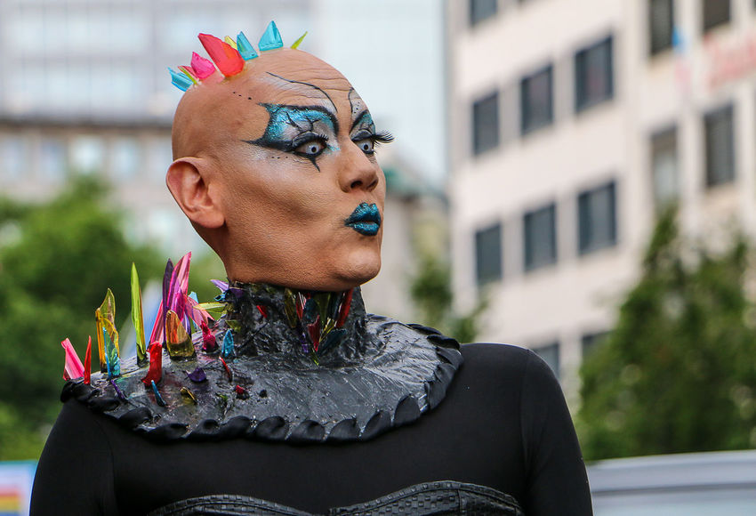 CSD Christopher Street Day Colourful EyeEm Portraits People Watching Bunt Close-up Colour Colour Of Life Coulors Crazy Day Eyeem People Flower Flower Head Homo  One Person Outdoors People Photography Portrait Portrait Photography Real People Uniqueness The Week On EyeEm Press For Progress