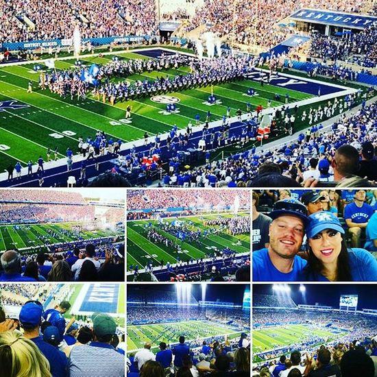 The Kentucky game last night! BBN Wildcats Weruk Kentucky  Lexington Lex Wildcats Collegefootball Coorslight Football Selfies Selfie @thebrookebingham